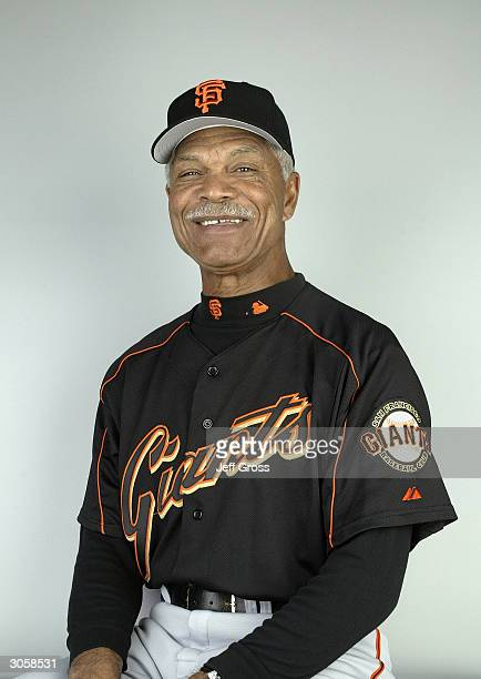 Manager Felipe Alou of the San Francisco Giants poses for a portrait during Photo Day on March 2 2004 at Scottsdale Stadium in Scottsdale Arizona