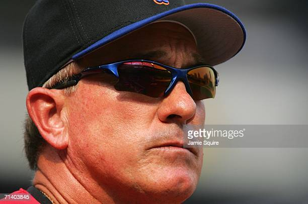 Manager Gary Carter of the U.S.A. Team looks on during the XM Satellite Radio All-Star Futures Game at PNC Park on July 9, 2006 in Pittsburgh,...