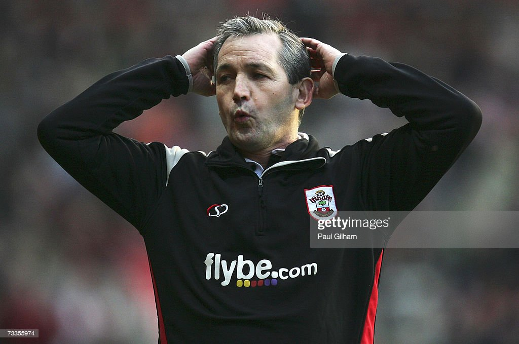 Manager George Burley of Southampton looks on from the touchline during the Coca-Cola Championship match between Southampton and Barnsley at St Mary's Stadium on February 17, 2007 in Southampton, England.