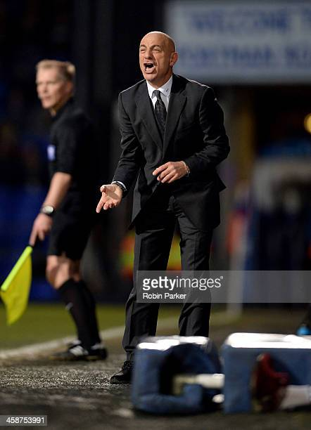 Manager Giuseppe Sannino of Watford on the touchline during the Sky Bet Championship match between Ipswich Town and Watford at Portman Road on...