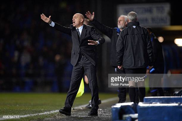 Manager Giuseppe Sannino of Watford reacts during the Sky Bet Championship match between Ipswich Town and Watford at Portman Road on December 21 2013...
