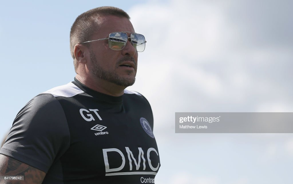 Manager Glenn Tamplin of Billericay Town looks on during The Emirates FA Cup Qualifying First Round match between Billericay Town and Didcot Town on September 2, 2017 in Billericay, England.