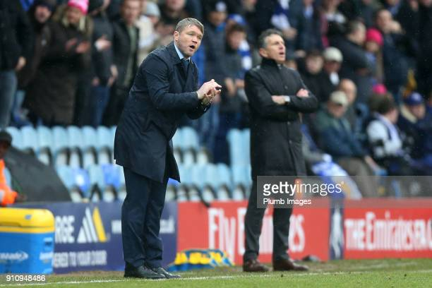 Manager Grant McCann of Peterborough United during The Emirates FA Cup Fourth Round tie between Peterborough United and Leicester City at ABAX...