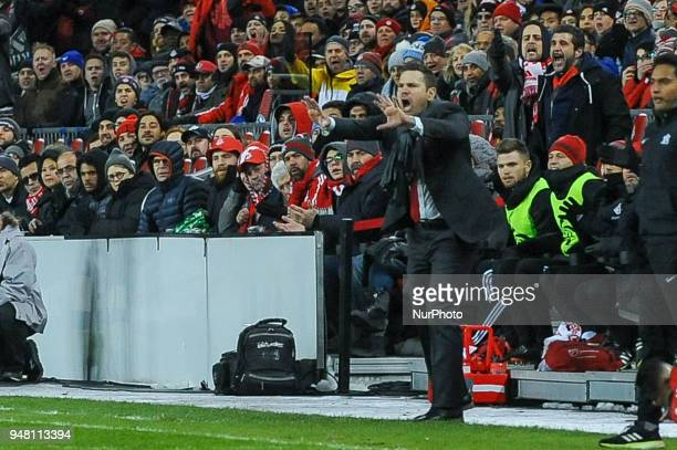 Manager Greg Vanney during the 2018 CONCACAF Champions League Final match between Toronto FC and CD Chivas Guadalajara at BMO Field in Toronto Canada...