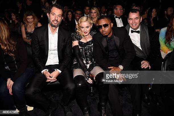 Manager Guy Oseary Madonna and Nas attend The 57th Annual GRAMMY Awards at STAPLES Center on February 8 2015 in Los Angeles California