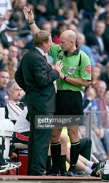 Manager Harry Redknapp of Southampton is sent into the stand by referee N S Miller during the CocaCola Championship match between Derby County and...