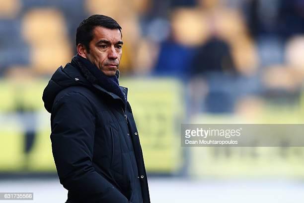Manager / Head Coach Giovanni van Bronckhorst looks on during the Dutch Eredivisie match between Roda JC and Feyenoord Rotterdam held at Parkstad...