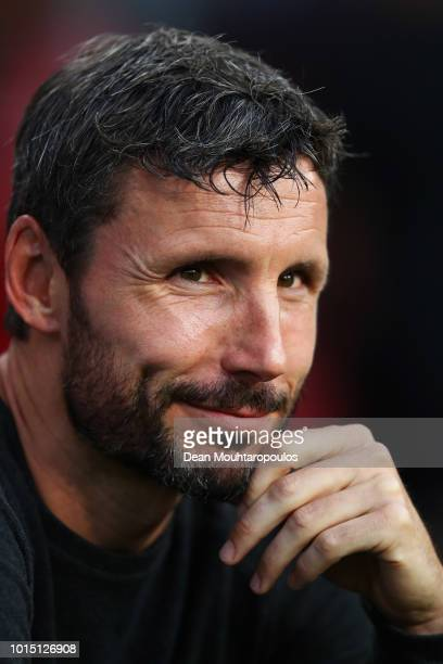 Manager / Head Coach Mark van Bommel looks on during the Eredivisie match between PSV and Utrecht at Philips Stadion on August 11 2018 in Eindhoven...