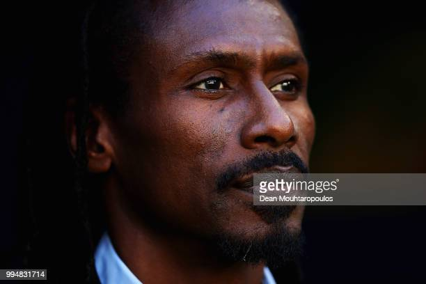 Manager / Head Coach of Senegal Aliou Cisse looks on prior to the 2018 FIFA World Cup Russia group H match between Senegal and Colombia at Samara...