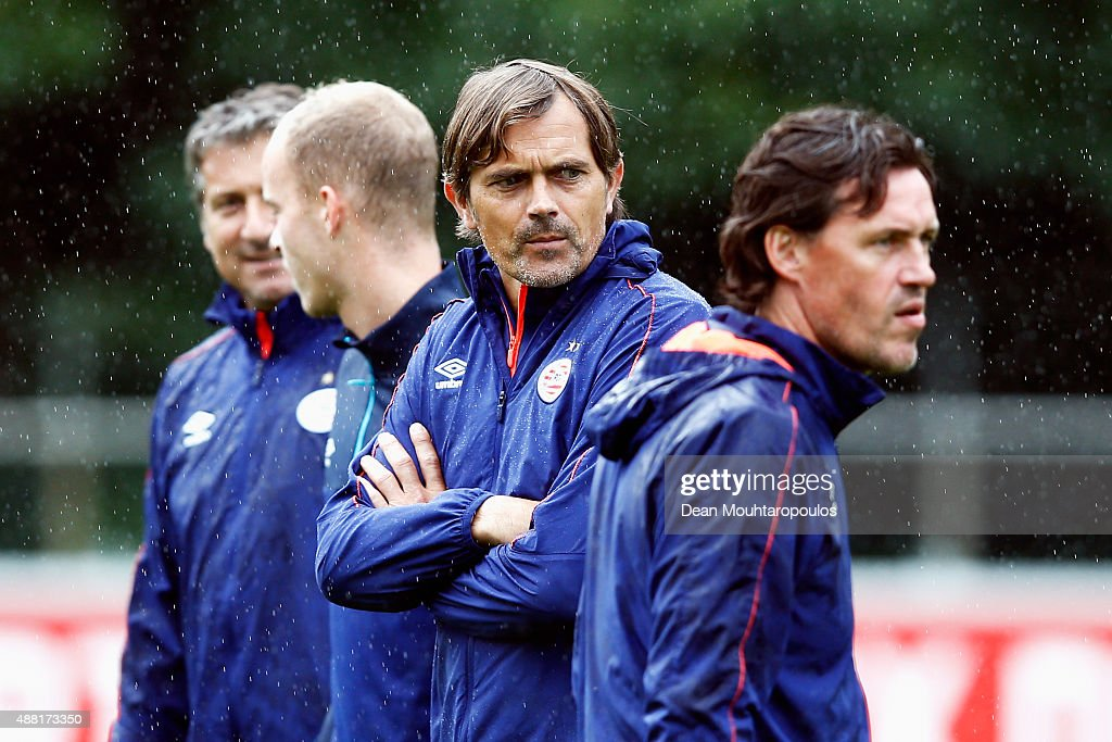 PSV Eindhoven Training Session and Press Conference : News Photo