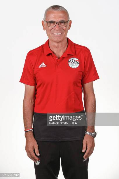 Manager Hector Cuper poses for a portrait during the official FIFA World Cup 2018 portrait session at The Local Hotel on June 11 2018 in Gronzy Russia