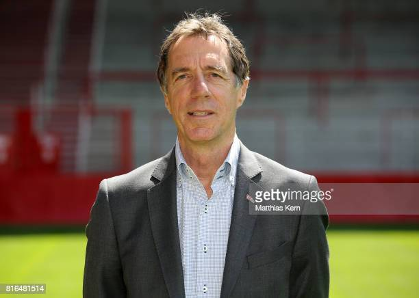 Manager Helmut Schulte of 1 FC Union Berlin poses during the team presentation at Stadion an der Alten Foersterei on July 17 2017 in Berlin Germany