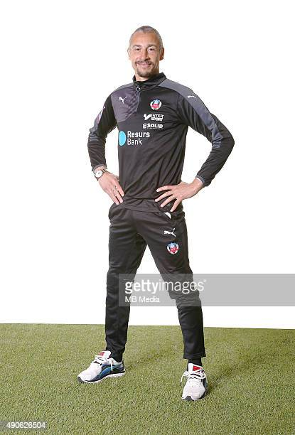 Manager Henrik Larsson of Helsingborgs IF poses during a portrait session on March 11 2015 in HelsingborgSweden