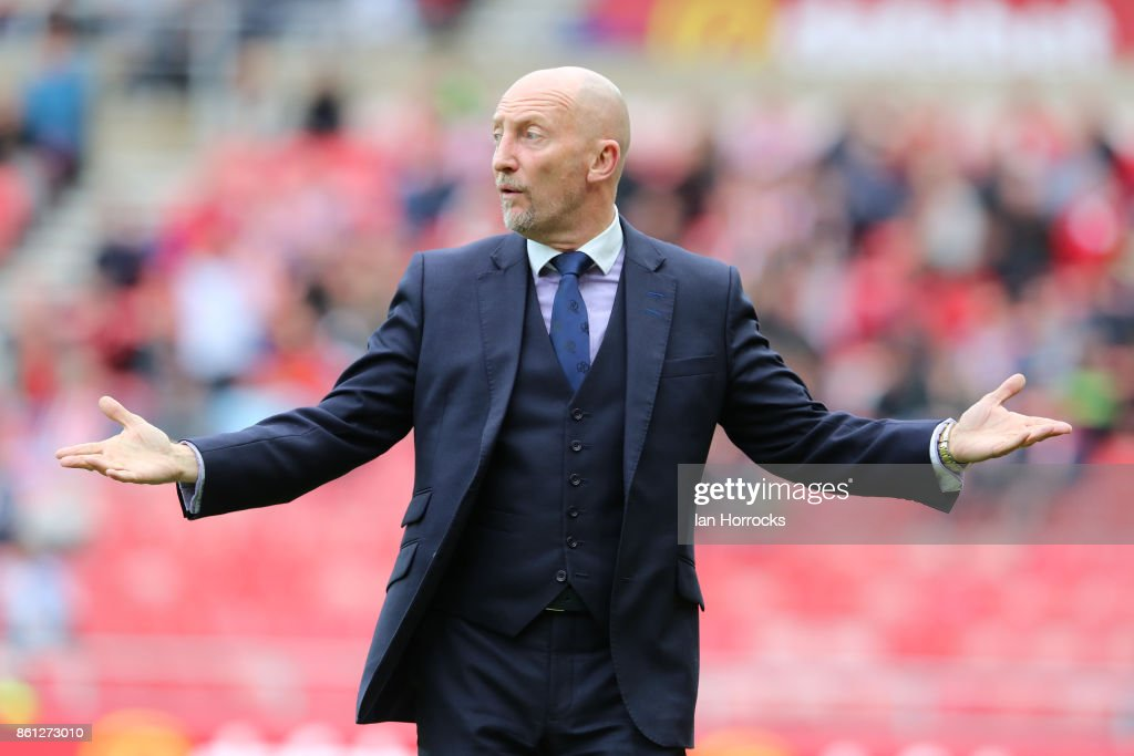 QPR manager Ian Holloway during the Sky Bet Championship match between Sunderland and Queens Park Rangers at Stadium of Light on October 14, 2017 in Sunderland, England.