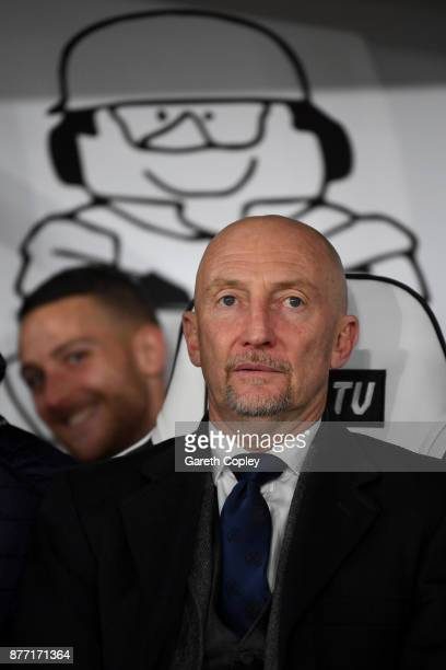QPR manager Ian Holloway during the Sky Bet Championship match between Derby County and Queens Park Rangers at iPro Stadium on November 21 2017 in...