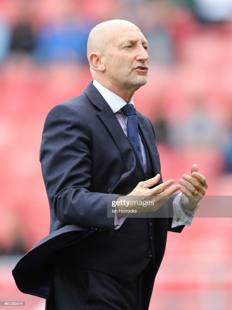 QPR manager Ian Holloway looks on during the Sky Bet Championship match between Sunderland and Queens Park Rangers at Stadium of Light on October 14, 2017 in Sunderland, England.