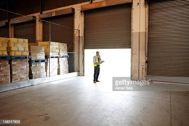 Manager inside a food distribution warehouse