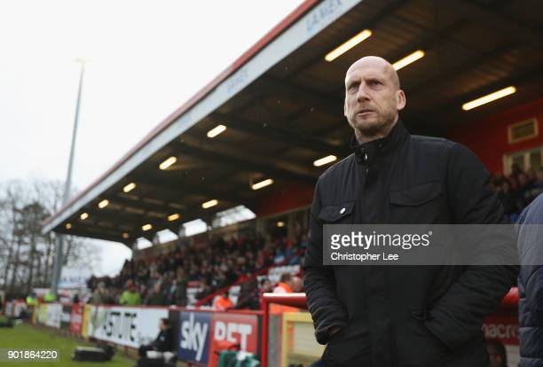 Manager Jaap Stam of Reading during The Emirates FA Cup Third Round match between Stevenage and Reading at The Lamex Stadium on January 6 2018 in...