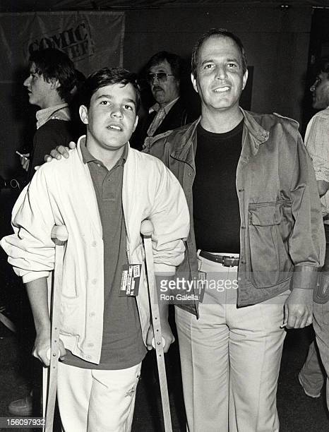 Manager Jeff Wald and son Jordan Wald attending 'Comic Relief Benefit' on March 29 1986 at the Universal Ampitheater in Universal City California