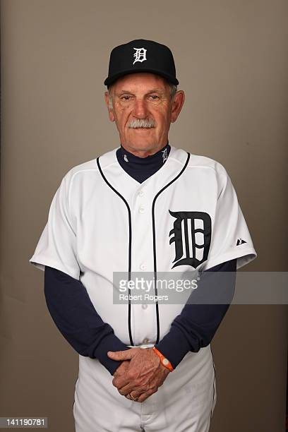 Manager Jim Leyland of the Detroit Tigers poses during Photo Day on Tuesday February 28 2012 at Joker Marchant Stadium in Lakeland Florida
