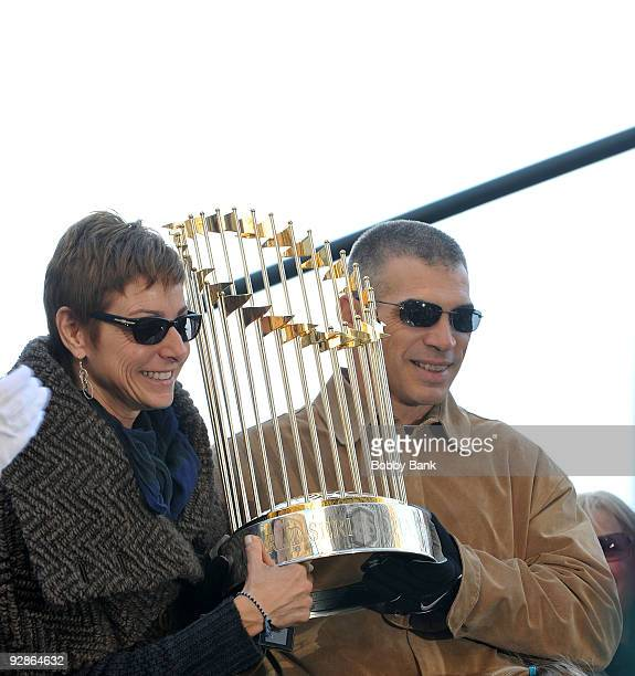 Manager Joe Girardi of the New York Yankees attends the 2009 New York Yankees World Series victory parade on November 6 2009 in New York City