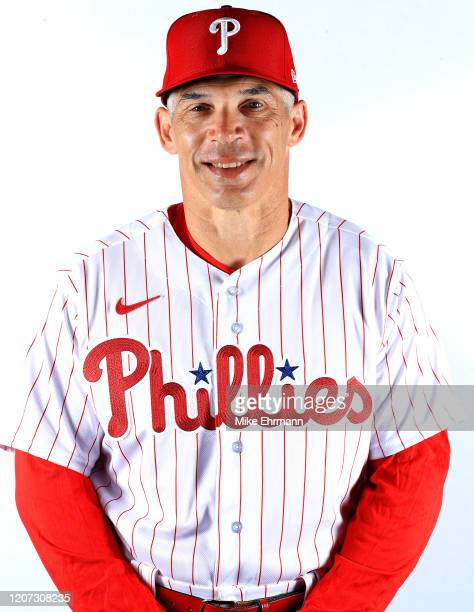 Manager Joe Girardi of the Philadelphia Phillies poses for a portrait during photo day at Spectrum Field on February 19, 2020 in Clearwater, Florida.