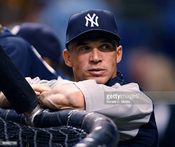 Manager Joe Girardi the New York Yankees during batting practice before a game against the Tampa Bay Rays April 13, 2009 in St. Petersburg, Florida.