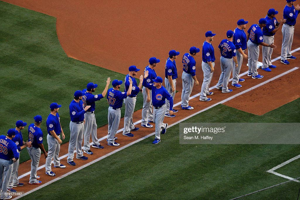 Chicago Cubs v Los Angeles Angels of Anaheim : News Photo