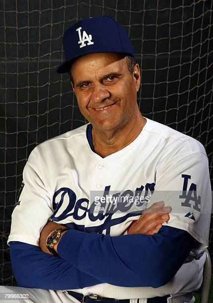 Manager Joe Torre of the Los Angeles Dodgers poses during Photo Day on February 24, 2008 at Space Coast Stadium in Vero Beach, Florida.