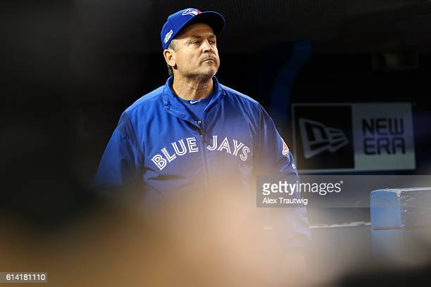 Manager John Gibbons of the Toronto Blue Jays is seen prior to the American League Wild Card Game against the Baltimore Orioles at the Rogers Centre...