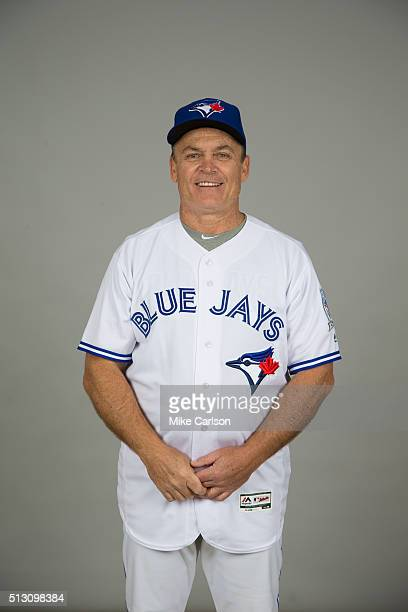Manager John Gibbons of the Toronto Blue Jays poses during Photo Day on Saturday February 27 2016 at Florida Auto Exchange Stadium in Dunedin Florida