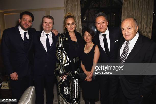 Manager Jonathan Dickens Chairman of the Columbia Records Rob Stringer recording artist Adele Riko Hirai President and CEO of Sony Corporation Kaz...