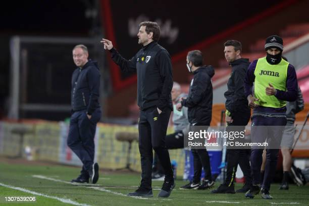 Manager Jonathan Woodgate of Bournemouth during the Sky Bet Championship match between AFC Bournemouth and Swansea City at Vitality Stadium on March...