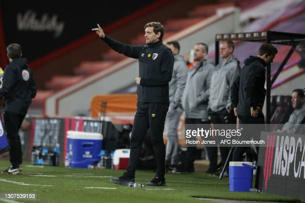 Manager Jonathan Woodgate of Bournemouth of Bournemouth during the Sky Bet Championship match between AFC Bournemouth and Swansea City at Vitality...