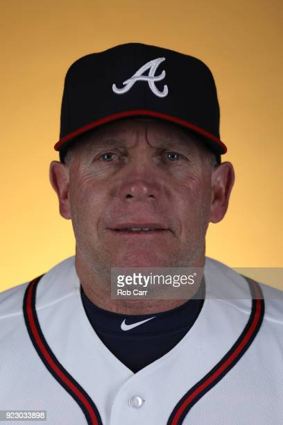 Manager Jose Castro of the Atlanta Braves poses for a photo during photo days at Champion Stadium on February 22 2018 in Lake Buena Vista Florida