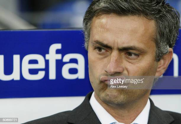 Manager Jose Dos Santos Mourinho of FC Porto looks on during the UEFA Champions League Final match between AS Monaco and FC Porto at the AufSchake...