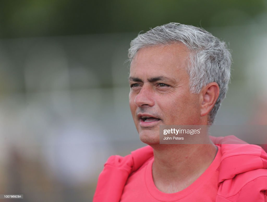 Manager Jose Mourinho of Manchester United in action during a training session as part of their pre-season tour of the USA at Barry University on July 30, 2018 in Miami, Florida.