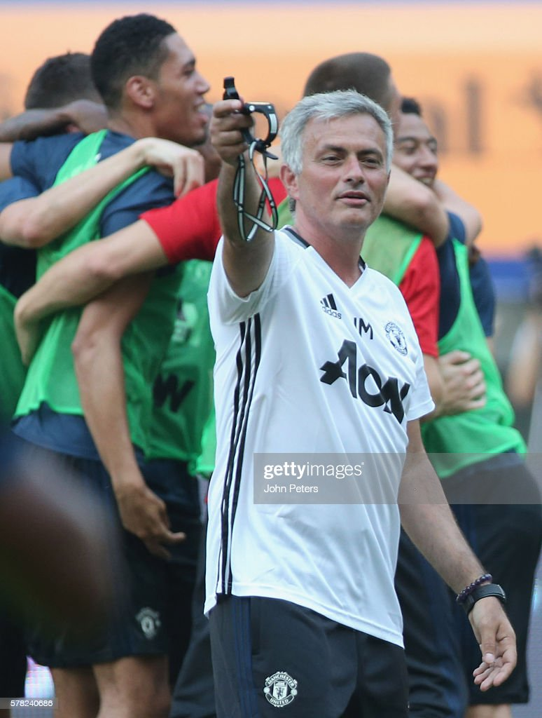 Manager Jose Mourinho of Manchester United in action during a first team training session as part of their pre-season tour of China at Shanghai Stadium on July 21, 2016 in Shanghai, China.