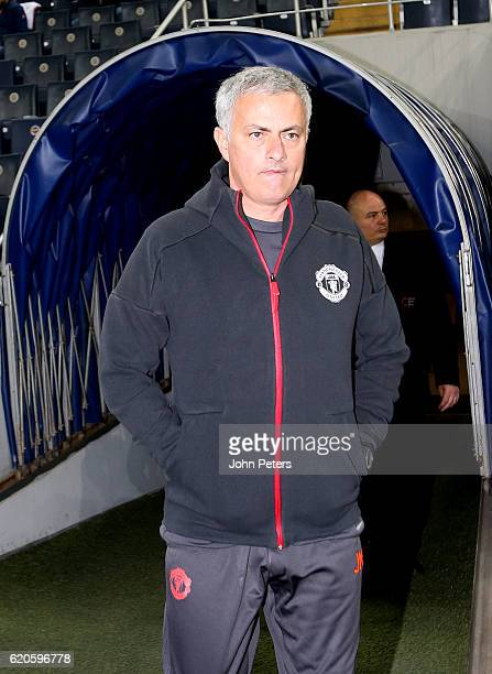Manager Jose Mourinho of Manchester United in action during a first team training session at Sukru Saracoglu Stadium on November 2 2016 in Istanbul...