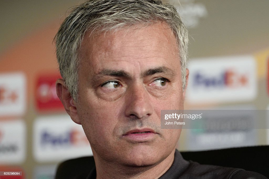 Manager Jose Mourinho of Manchester United speaks during a press conference at Aon Training Complex on November 23, 2016 in Manchester, England.
