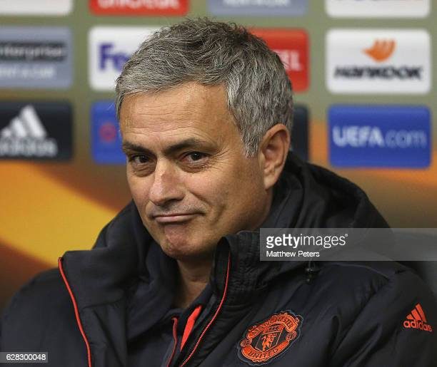 Manager Jose Mourinho of Manchester United speaks during a press conference at Central Stadium Chernomorets on December 7 2016 in Odessa Ukraine