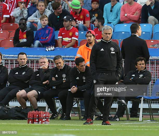 Manager Jose Mourinho of Manchester United watches from the touchline during the preseason friendly match between Manchester United and Galatasaray...