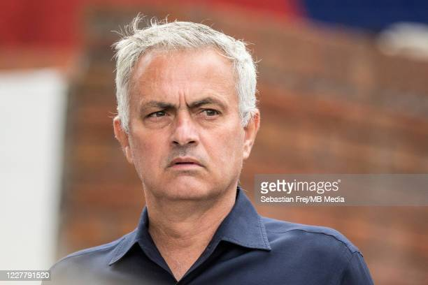 manager Jose Mourinho of Tottenham Hotspur looks on during the Premier League match between Crystal Palace and Tottenham Hotspur at Selhurst Park on...