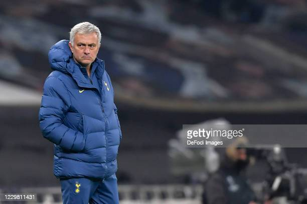 Manager Jose Mourinho of Tottenham Hotspur looks on during the UEFA Europa League Group J stage match between Tottenham Hotspur and PFC Ludogorets...