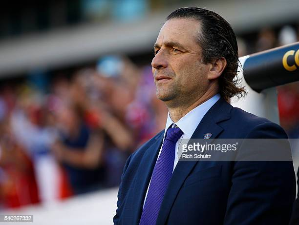 Manager Juan Antonio Pizzi of Chile on the sidelines in the first half during the 2016 Copa America Centenario Group D match at Lincoln Financial...