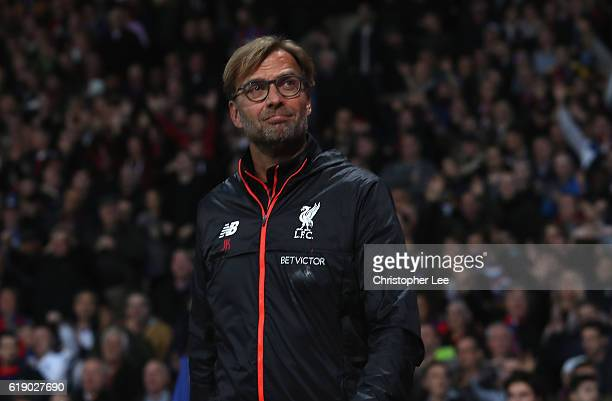 Manager Jurgen Klopp of Liverpool during the Premier League match between Crystal Palace and Liverpool at Selhurst Park on October 29 2016 in London...