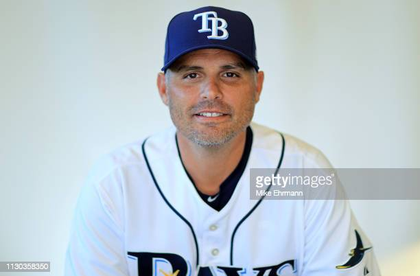 Manager Kevin Cash of the Tampa Bay Rays poses for a portrait during photo day on February 17 2019 in Port Charlotte Florida