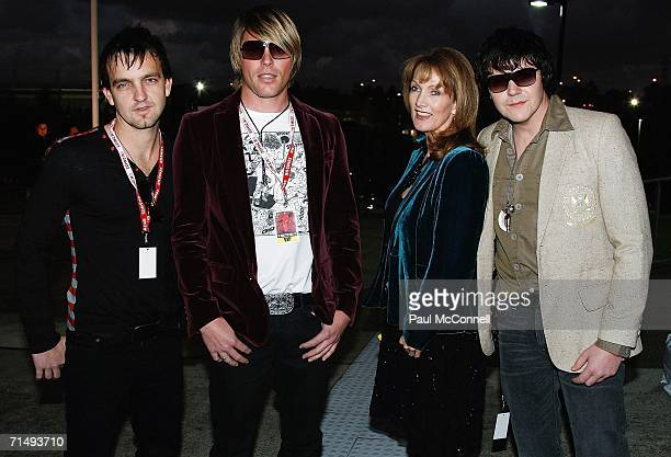 Manager Lea Goodrem and band The Day After attend the Urban Music Awards at the State Sports Centre on July 21 2006 in Sydney Australia