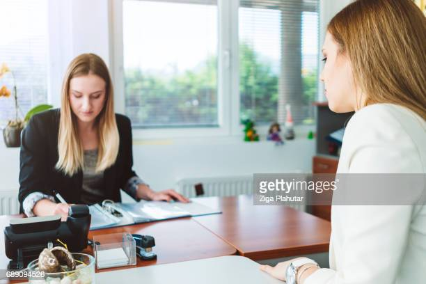 HR Manager leads a job interview