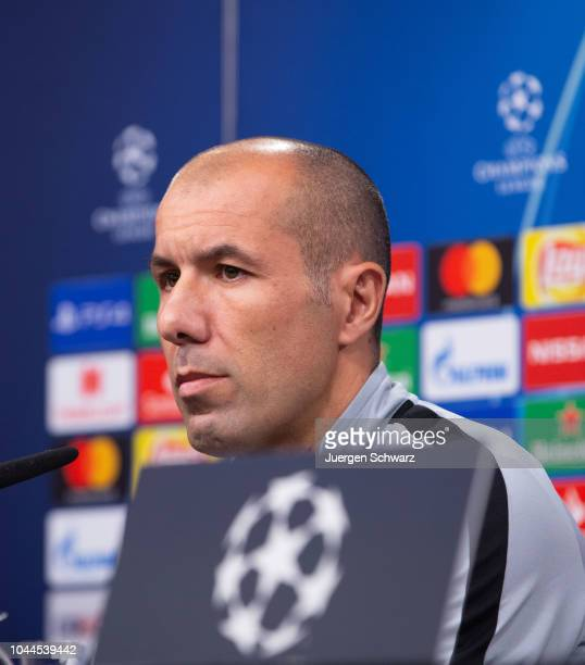 Manager Leonardo Jardim of AS Monaco attends a newsconference on October 2, 2018 in Dortmund, Germany. Monaco will play a UEFA Champions League match...